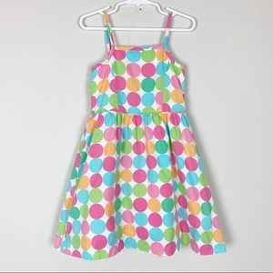 Hartstrings retro multi-color circle print dress K
